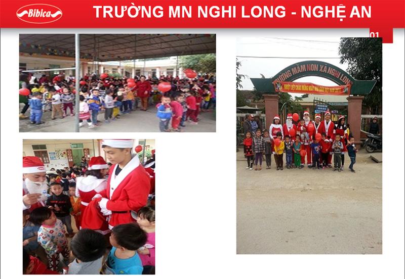 Đón Noel tại Trường Mầm non Nghi Long - Nghệ An