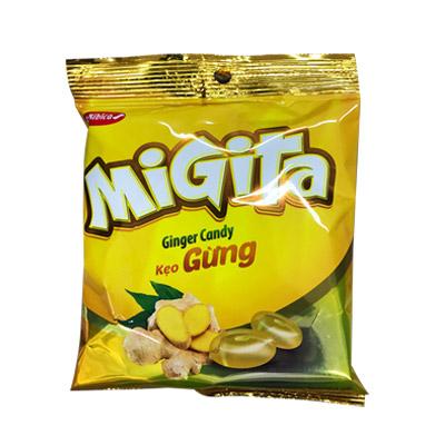 Kẹo cứng Migita Gừng túi 70 gam