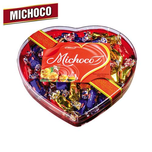 Kẹo mềm Michoco hộp nhựa Trái Tim 200 gam