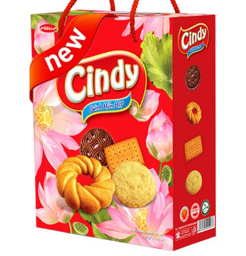 Bánh hỗn hợp Hộp giấy Quai xách Cindy Hoa sen 330 gam
