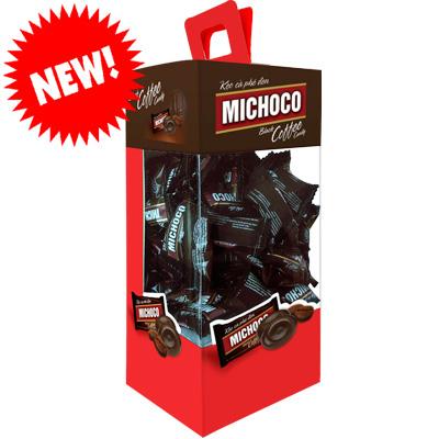 Kẹo Michoco Cà Phê Đen hộp giấy Vuông 300 gam