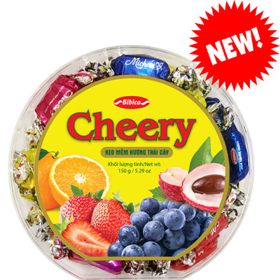 Kẹo Cheery hộp nhựa Vạt Góc 150 gam