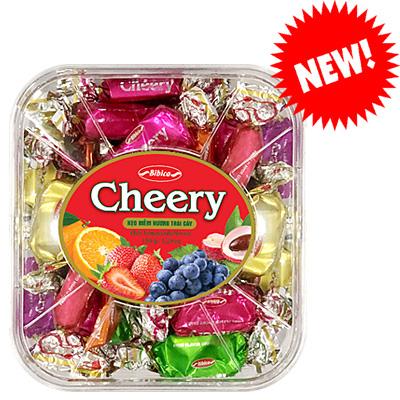 Kẹo Cheery hộp nhựa Vuông 150 gam