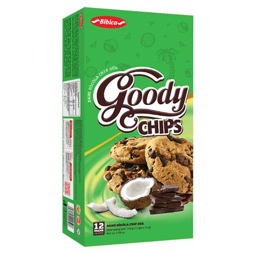 Bánh Goody Chip Dừa 144 gam