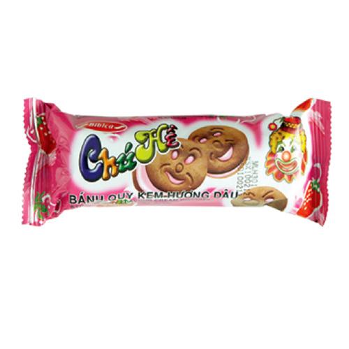 Bánh quy kem hương Dâu Chú hề 95 gam