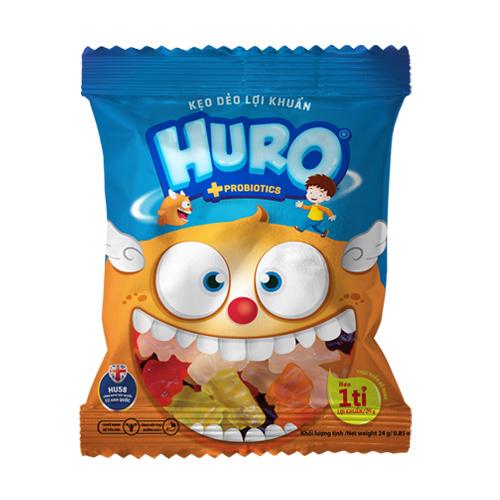 Kẹo dẽo lợi khuẩn HURO túi 24 gam