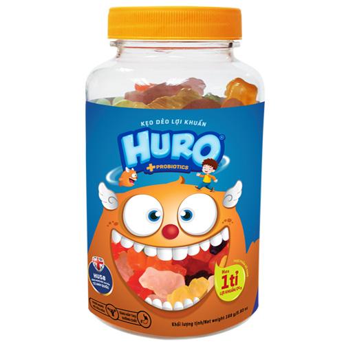 Kẹo dẽo lợi khuẩn HURO túi 168 gam
