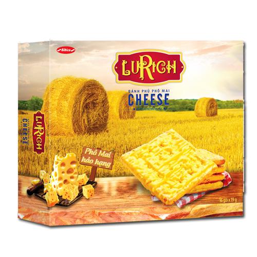 Bánh Cracker phủ Phô Mai Lurich hộp giấy 304 gam