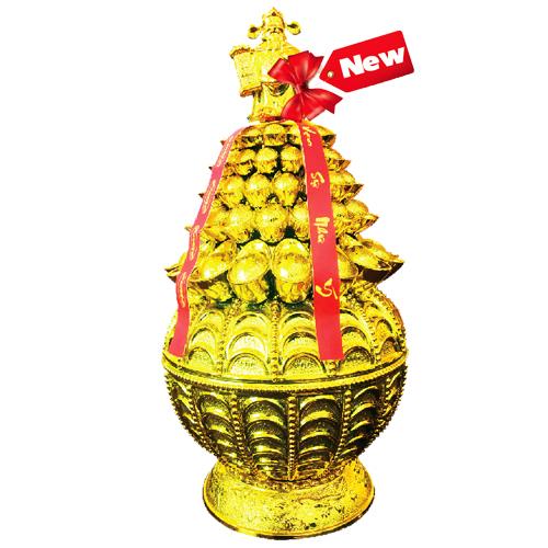 Kẹo cứng Phát Tài hộp nhựa Chén Vàng 120 gam