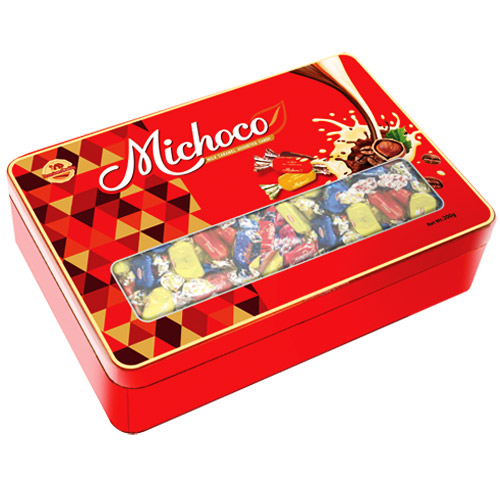 Kẹo mềm Michoco hộp thiếc 350 gam