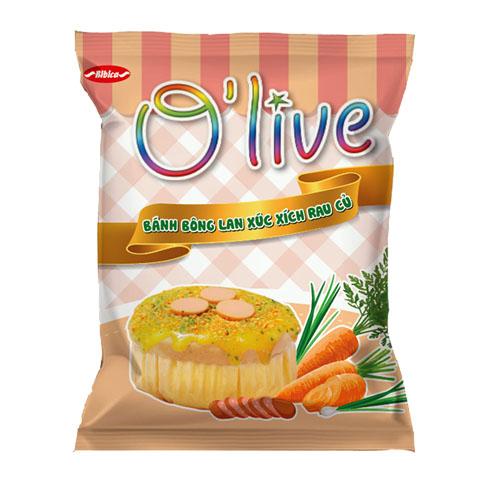 Bánh Bông Lan Xúc xích Rau củ OLIVE 40 gam