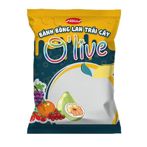 Bánh Bông lan trái cây OLIVE Cam - Nho 40 gam
