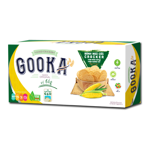 Bánh Cracker ngũ cốc bắp Gooka 160 gam