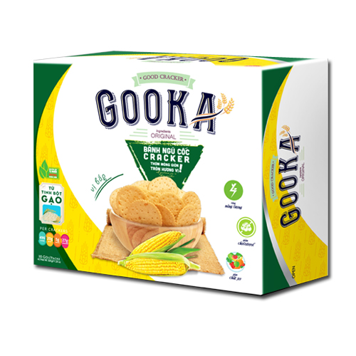 Bánh Cracker Ngũ cốc bắp Gooka 320 gam