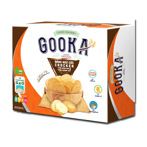 Bánh Cracker Ngũ cốc Khoai tây Gooka 320 gam