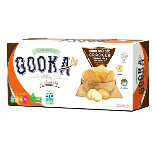 Bánh Cracker Ngũ cốc Khoai tây Gooka 160 gam