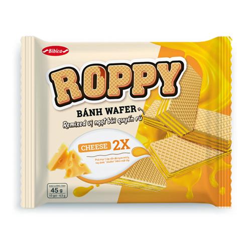 Bánh kem xốp Phô Mai nhân đôi Roppy 45 gam